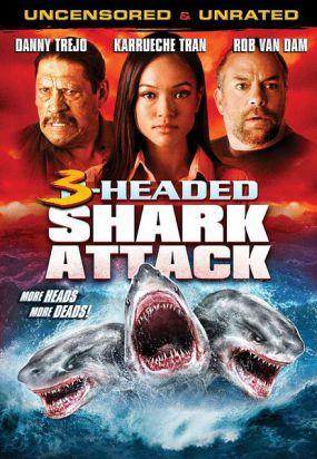 夺命三头鲨 海报